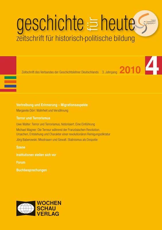 Vertreibung und Erinnerung - Migrationsaspekte;  Terror und Terrorismus
